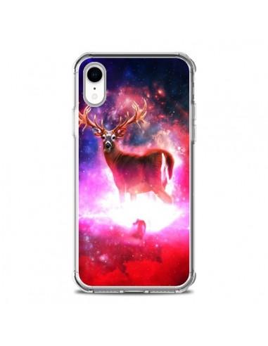 Coque iPhone XR Cosmic Deer Cerf Galaxy - Maximilian San