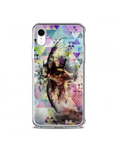 Coque iPhone XR Oeil Triangle Oiseau...