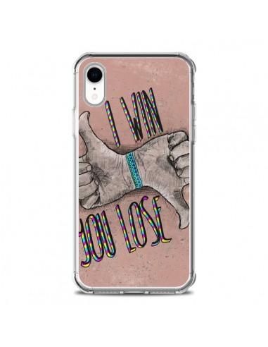 Coque iPhone XR I win You lose - Maximilian San