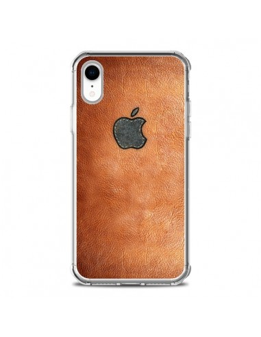 Coque iPhone XR Style Cuir -...