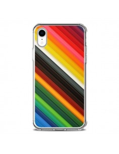 Coque iPhone XR Arc en Ciel Rainbow - Maximilian San