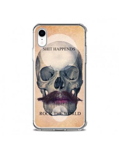 Coque iPhone XR Rock Skull Tête de...