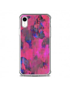 Coque iPhone XR Fleurs Rose Lysergic Pink - Maximilian San