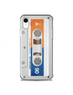 Coque iPhone XR White Cassette K7 - Maximilian San