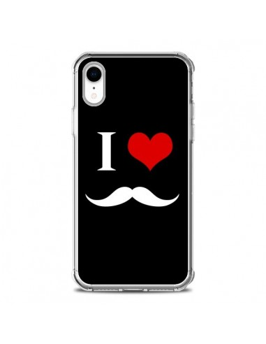 Coque iPhone XR I Love Moustache - Nico