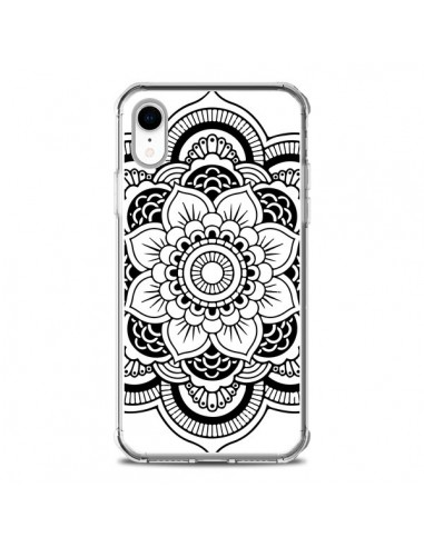 Coque iPhone XR Mandala Noir Azteque - Nico