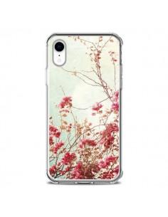 Coque iPhone XR Fleur Vintage Rose - Nico