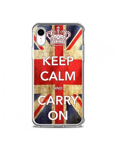 Coque iPhone XR Keep Calm and Carry On - Nico