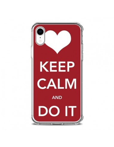Coque iPhone XR Keep Calm and Do It -...