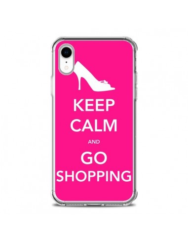 Coque iPhone XR Keep Calm and Go Shopping - Nico