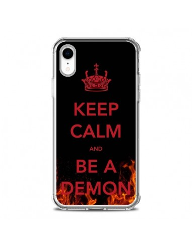 Coque iPhone XR Keep Calm and Be A Demon - Nico