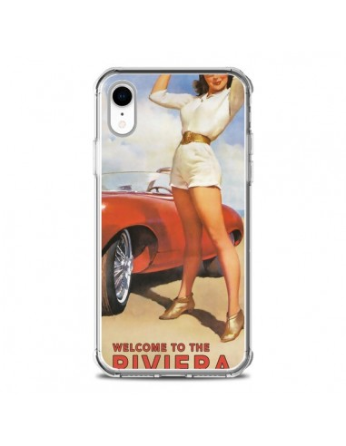 Coque iPhone XR Welcome to the Riviera Vintage Pin Up - Nico