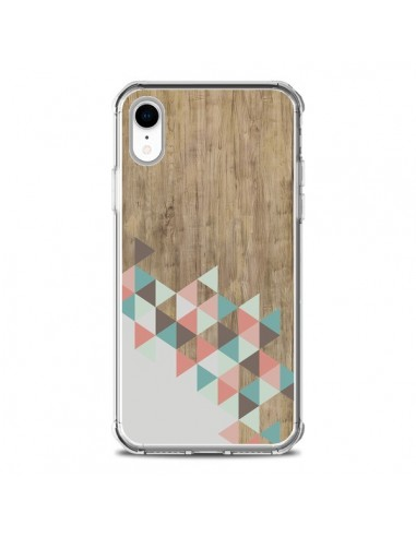 Coque iPhone XR Wood Bois Azteque Triangles Archiwoo - Pura Vida