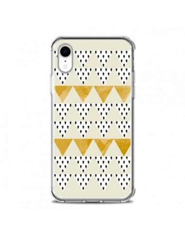 Coque iPhone XR Triangles Or Garland Gold - Pura Vida