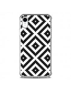 Coque iPhone XR Diamond Chevron Black and White - Pura Vida