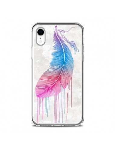 Coque iPhone XR Plume arc-en-ciel - Rachel Caldwell