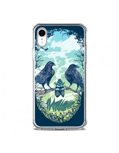 Coque iPhone XR Tête de Mort Nature -...