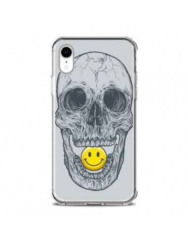 Coque iPhone XR Smiley Face Tête de Mort - Rachel Caldwell
