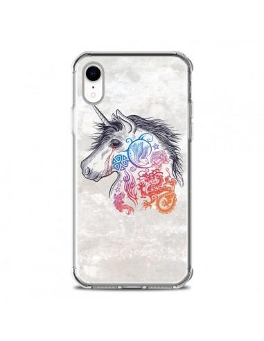 Coque iPhone XR Licorne Muticolore -...