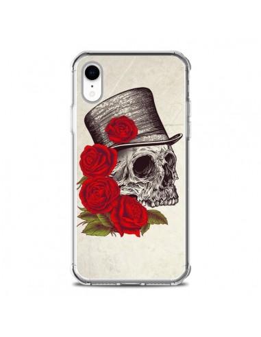 Coque iPhone XR Gentleman Crane Tête de Mort - Rachel Caldwell