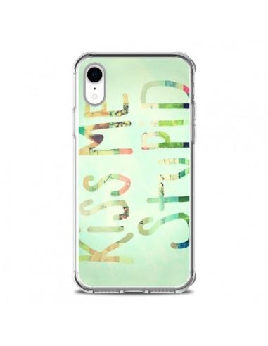 Coque iPhone XR Kiss Me Stupid - R...
