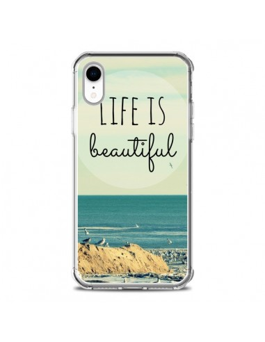 Coque iPhone XR Life is Beautiful - R Delean