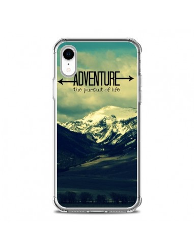 Coque iPhone XR Adventure the pursuit of life Montagnes Ski Paysage - R Delean