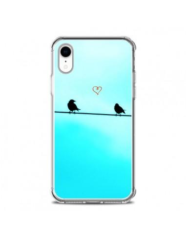 Coque iPhone XR Oiseaux Birds Amour...