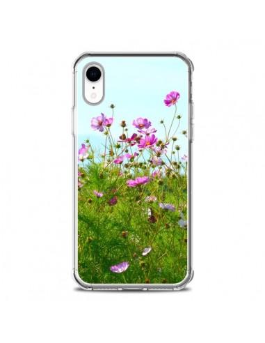 Coque iPhone XR Fleurs Roses Champ - R Delean