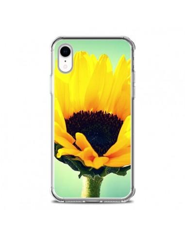 Coque iPhone XR Tournesol Zoom Fleur - R Delean