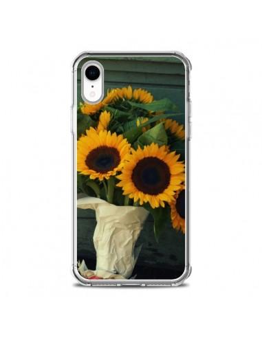 Coque iPhone XR Tournesol Bouquet Fleur - R Delean