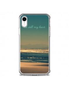Coque iPhone XR Be still my heart Mer Sable Beach Ocean - R Delean