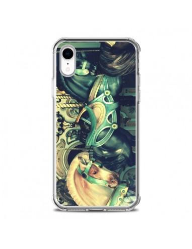 Coque iPhone XR Manege Enfant Carrousel Chevaux - R Delean