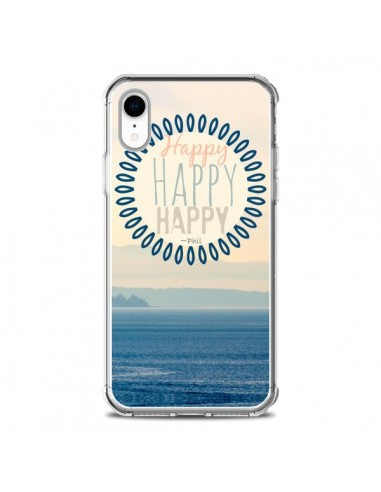 Coque iPhone XR Happy Day Mer Ocean Sable Plage Paysage - R Delean