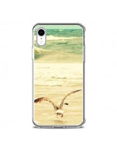 Coque iPhone XR Mouette Mer Ocean Sable Plage Paysage - R Delean