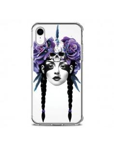 Coque iPhone XR Fille Fleurs Warrior - Ruben Ireland