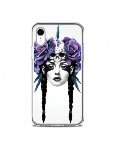 Coque iPhone XR Fille Fleurs Warrior - Ruben Ireland