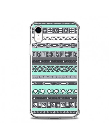 Coque iPhone XR Azteque Aztec Bleu Pastel - Rex Lambo