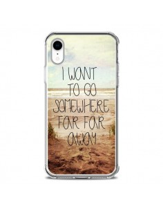 Coque iPhone XR I want to go somewhere - Sylvia Cook