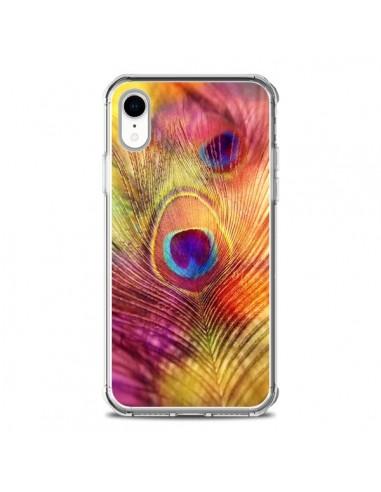 Coque iPhone XR Plume de Paon Multicolore - Sylvia Cook