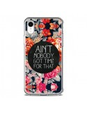 Coque iPhone XR Fleur Flower Ain't nobody got time for that - Sara Eshak