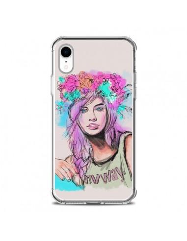 Coque iPhone XR Femme Mannequin...