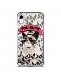 Coque iPhone XR Chat Grumpy Cat You Suck - Sara Eshak