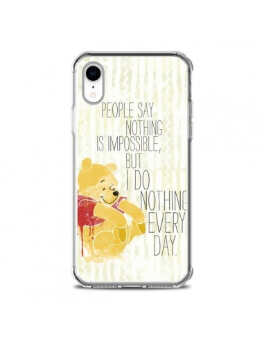 Coque iPhone XR Winnie I do nothing every day - Sara Eshak