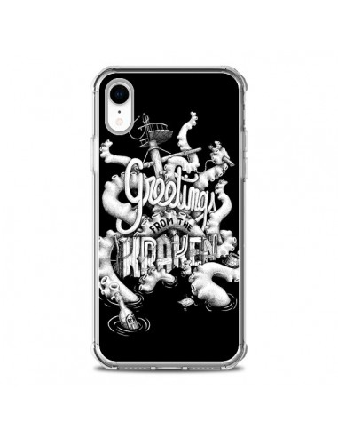 Coque iPhone XR Greetings from the kraken Tentacules Poulpe - Senor Octopus