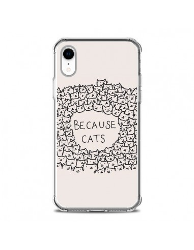 Coque iPhone XR Because Cats chat - Santiago Taberna