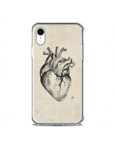 Coque iPhone XR Coeur Vintage - Tipsy Eyes
