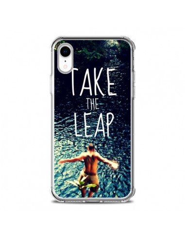 Coque iPhone XR Take the leap Saut - Tara Yarte