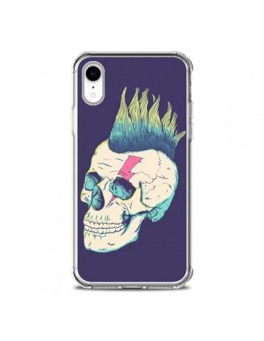 Coque iPhone XR Tête de mort Punk -...