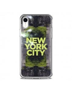 Coque iPhone XR New York City Vert - Javier Martinez